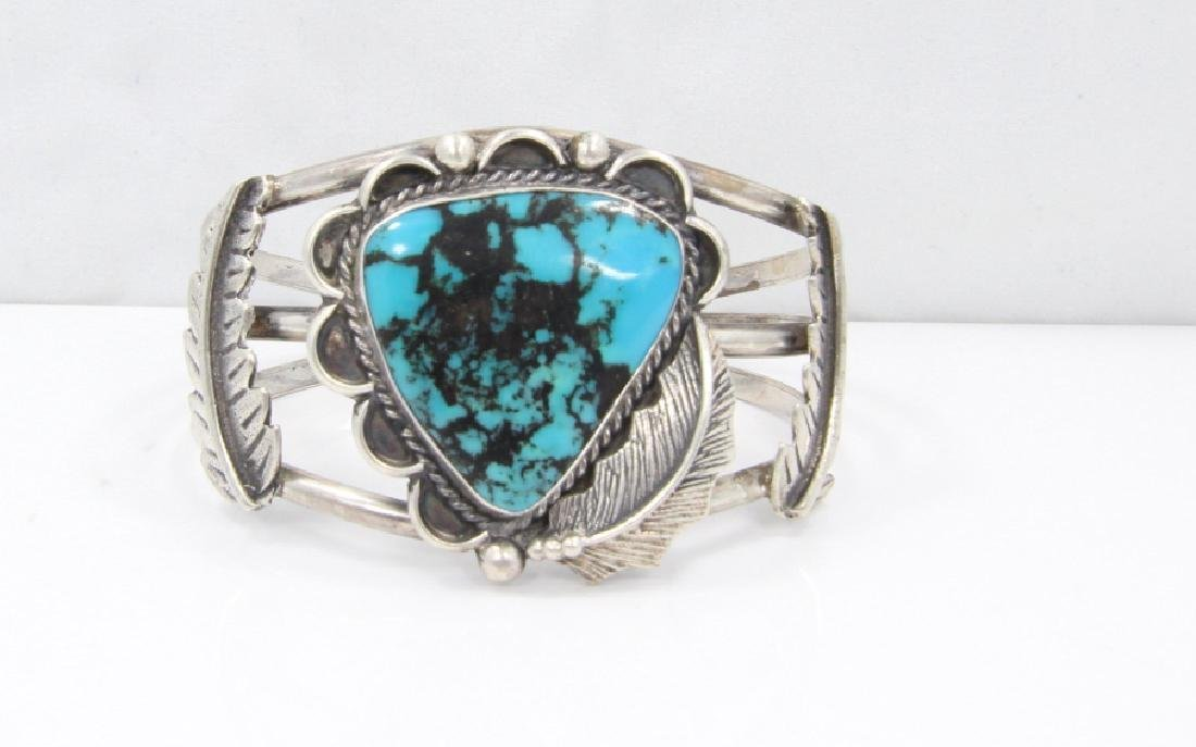 Navajo 27mm Turquoise & Sterling Silver Cuff