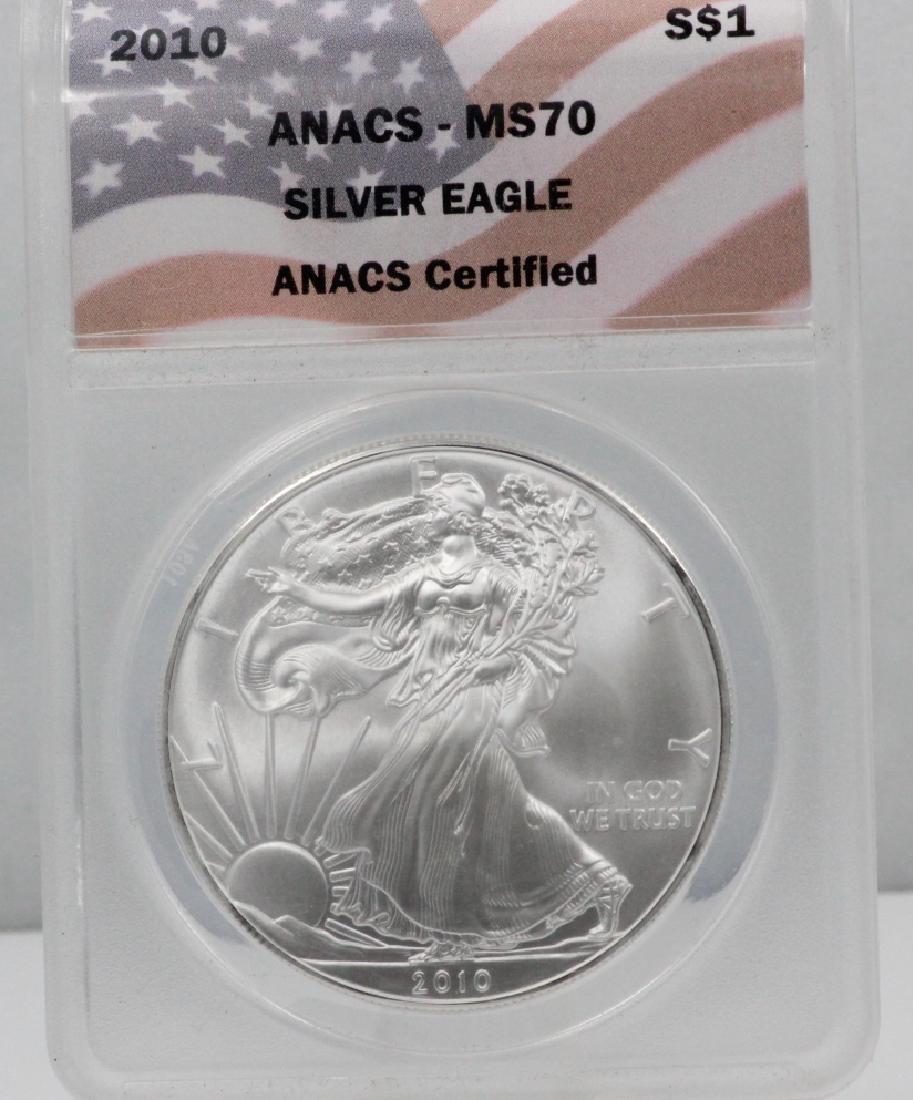 2010-P American Silver Eagle 1 Oz Coin MS70 ANACS