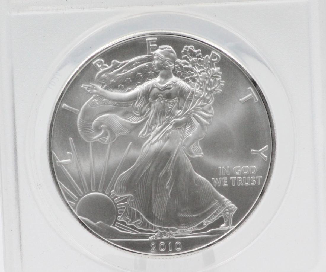 2010-P American Silver Eagle 1 Oz Coin MS70 ANACS - 2