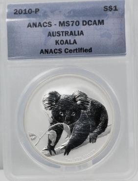 2010-P Australian Silver Koala Coin MS70 DCAM
