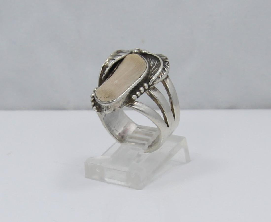 Native American Sterling Silver & Terracotta Ring