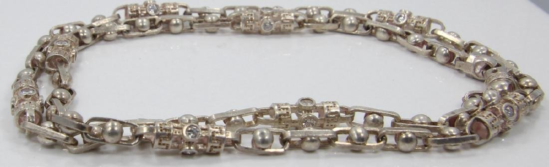Sterling Silver Elongated Link & Barrel Chain - 3