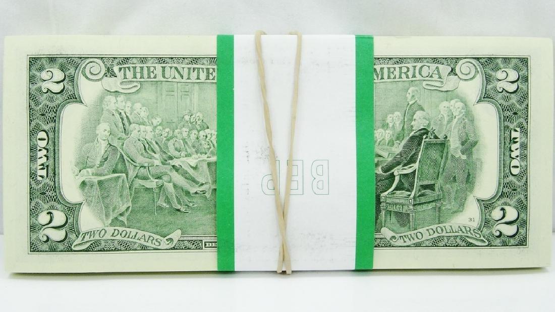 (100) $2 Bills in Mint Cond. in Numeric Order - 3