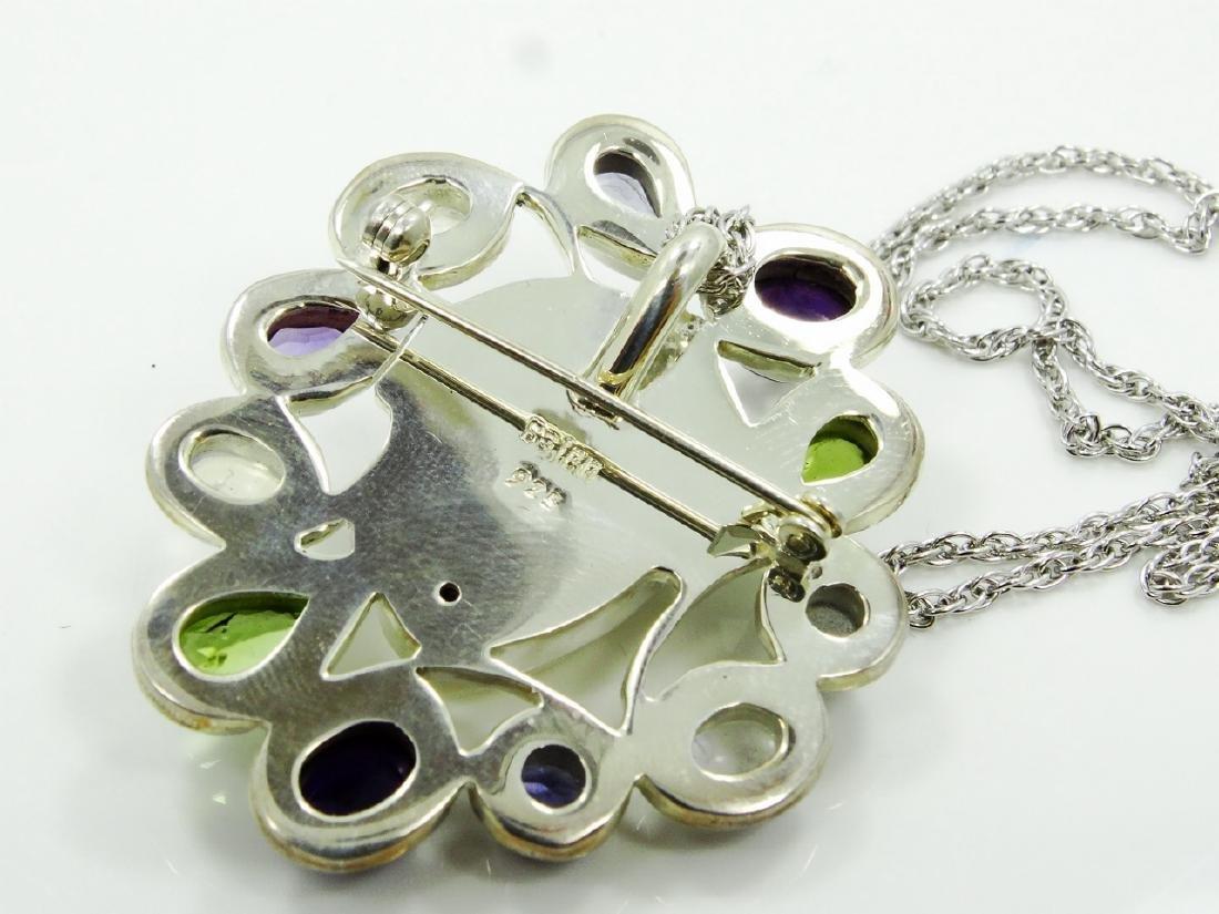 Sajen Sterling Silver & Stone Goddess Pendant - 4