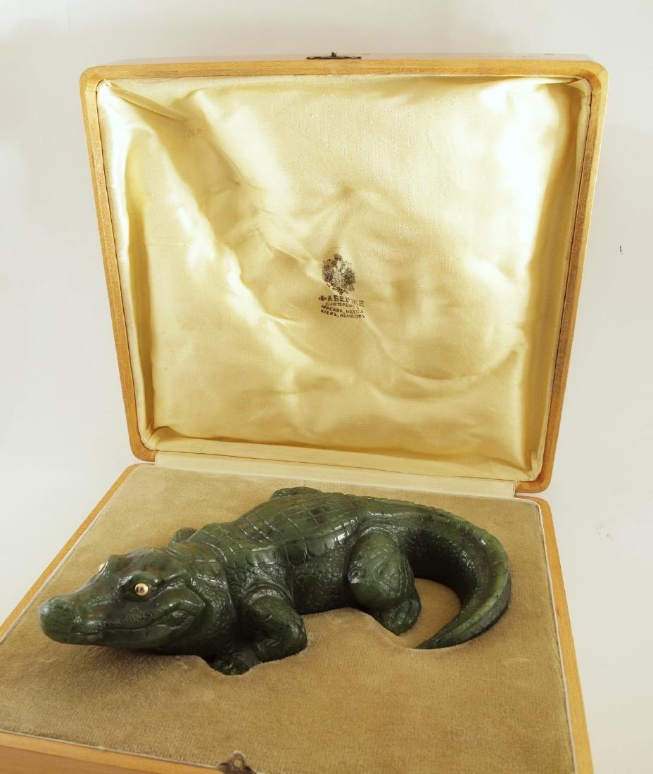 Faberge Crocodile W/72 Gold & Mined Diamond Eyes