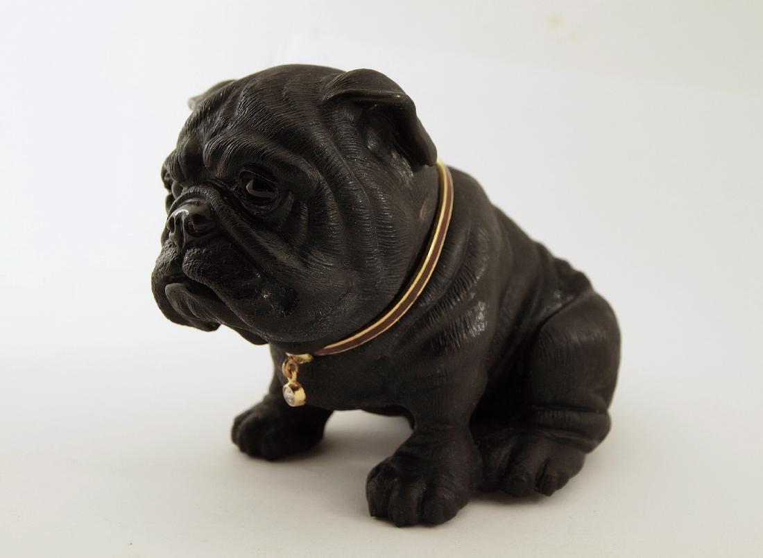 K.Faberge Bulldog W/72 Gold,Diamond & Enamel