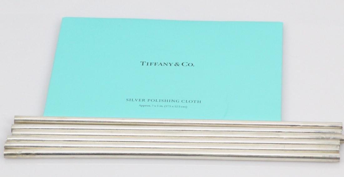 Tiffany & Co. New York (6)Sterling Silver Straws - 2
