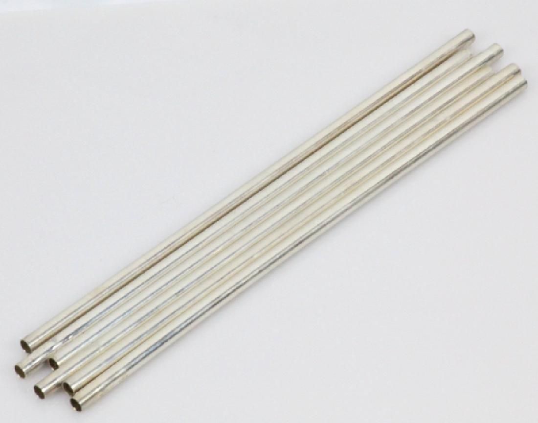 Tiffany & Co. New York (6)Sterling Silver Straws - 3