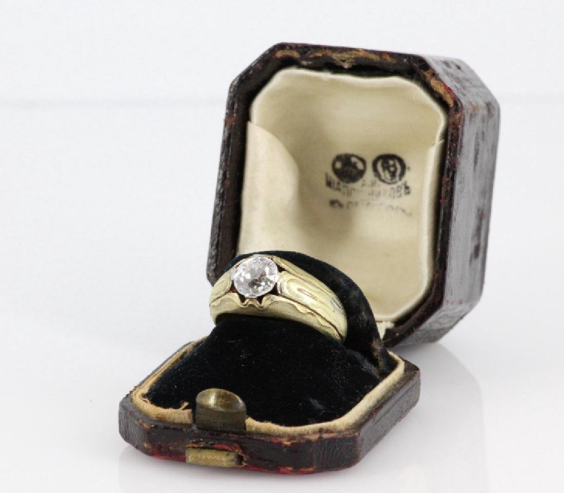 1800's Russian 1.5ct Mined Diamond & 72 Gold Ring