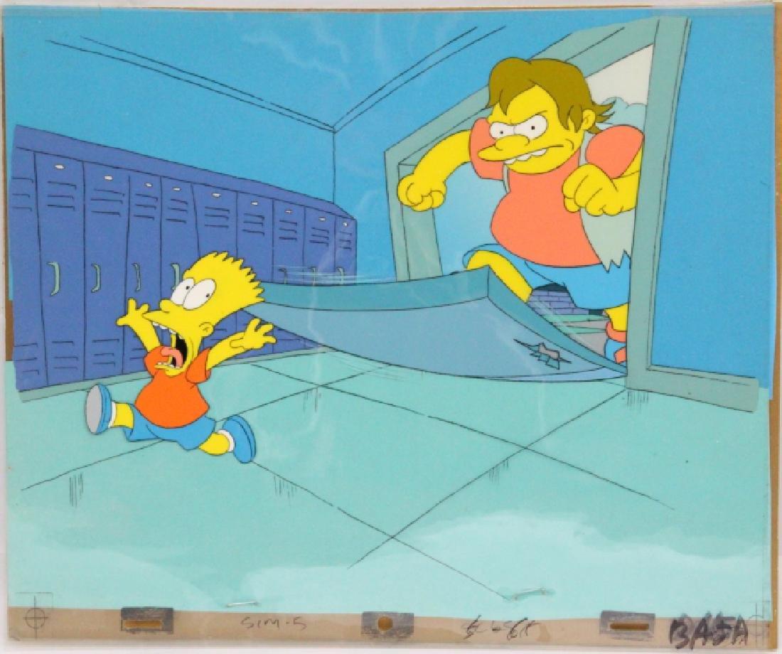 1990 Simpson's Sequential Key Cel Art SEASON 1