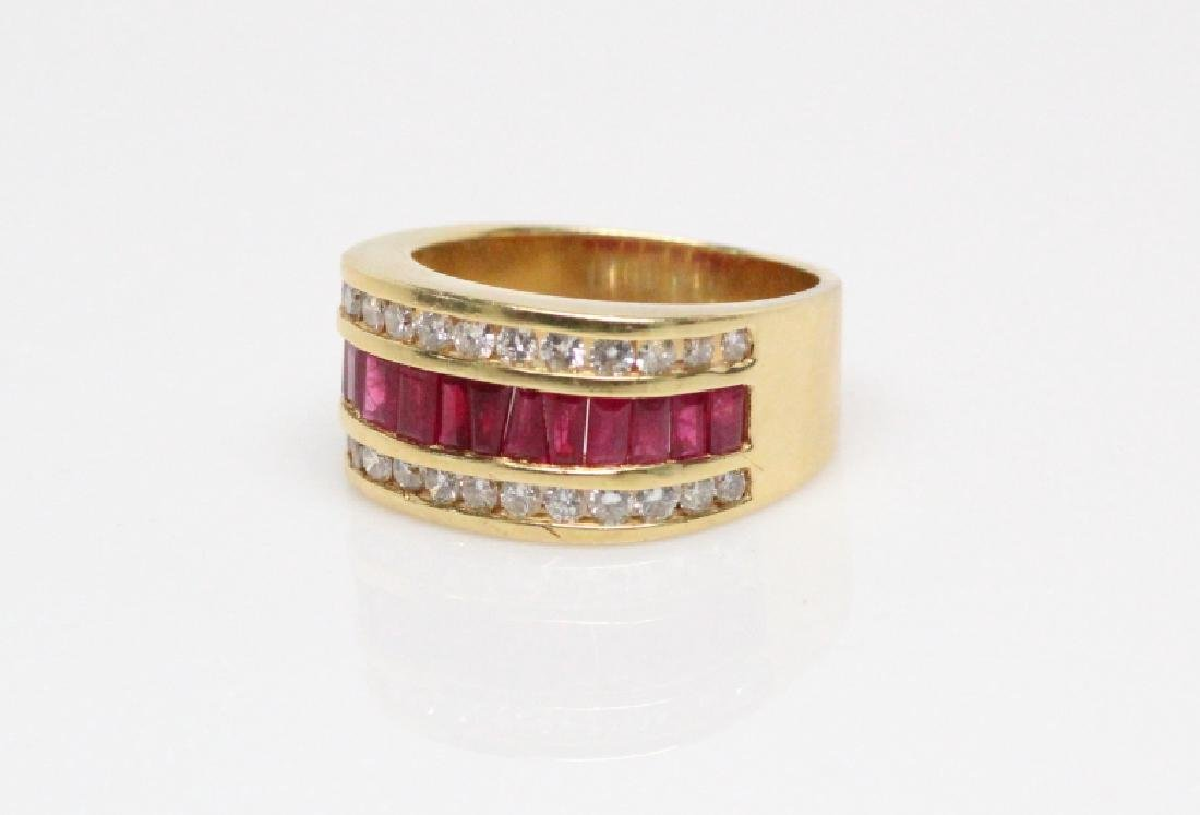 3.50ctw Ruby, 1.50ctw Diamond, & 18K YG 12mm Ring - 4