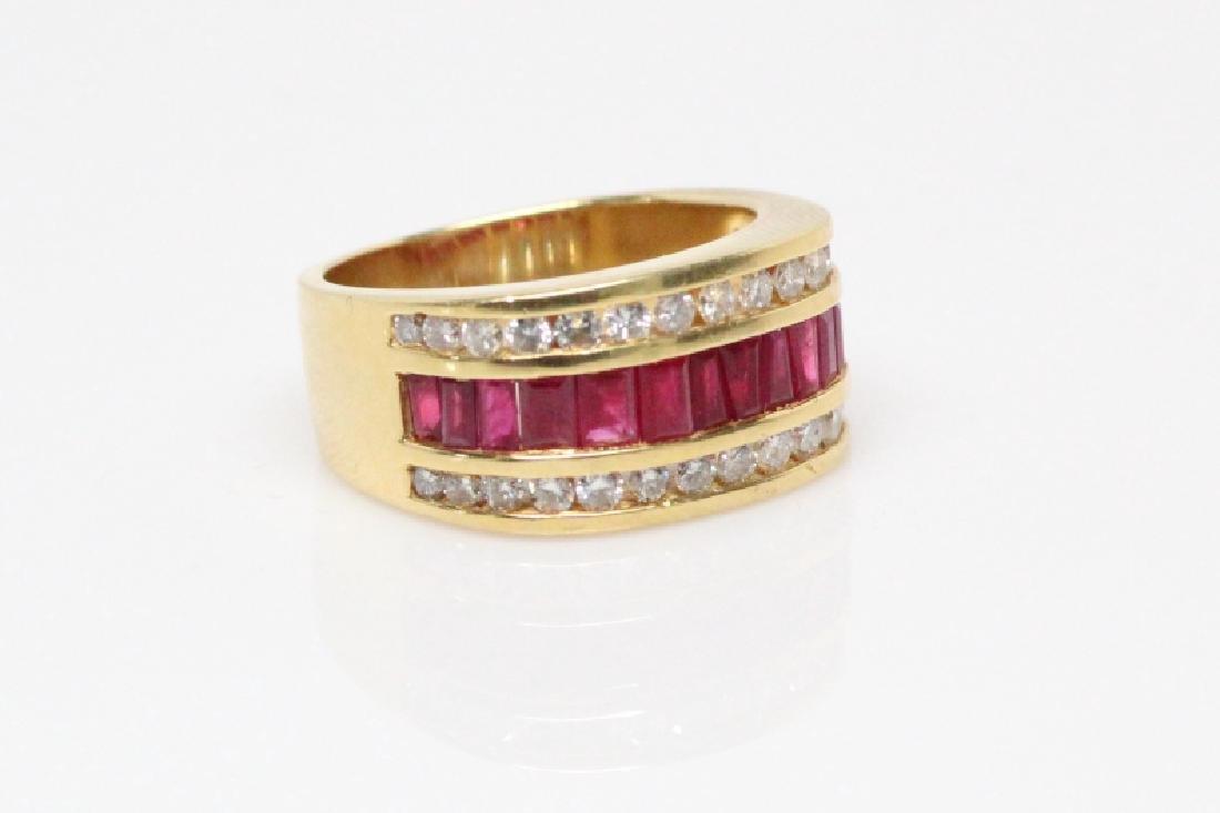 3.50ctw Ruby, 1.50ctw Diamond, & 18K YG 12mm Ring - 6