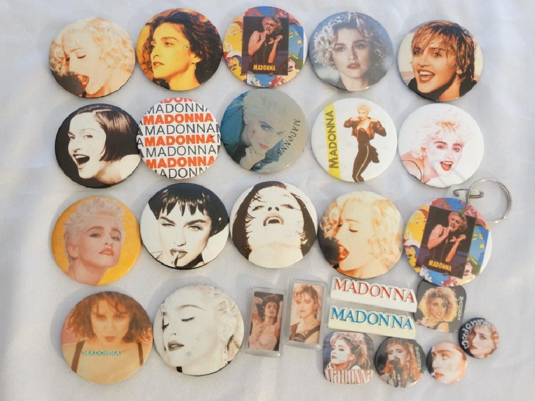 Madonna 26 Pins & Buttons From Tokyo Show W/COA
