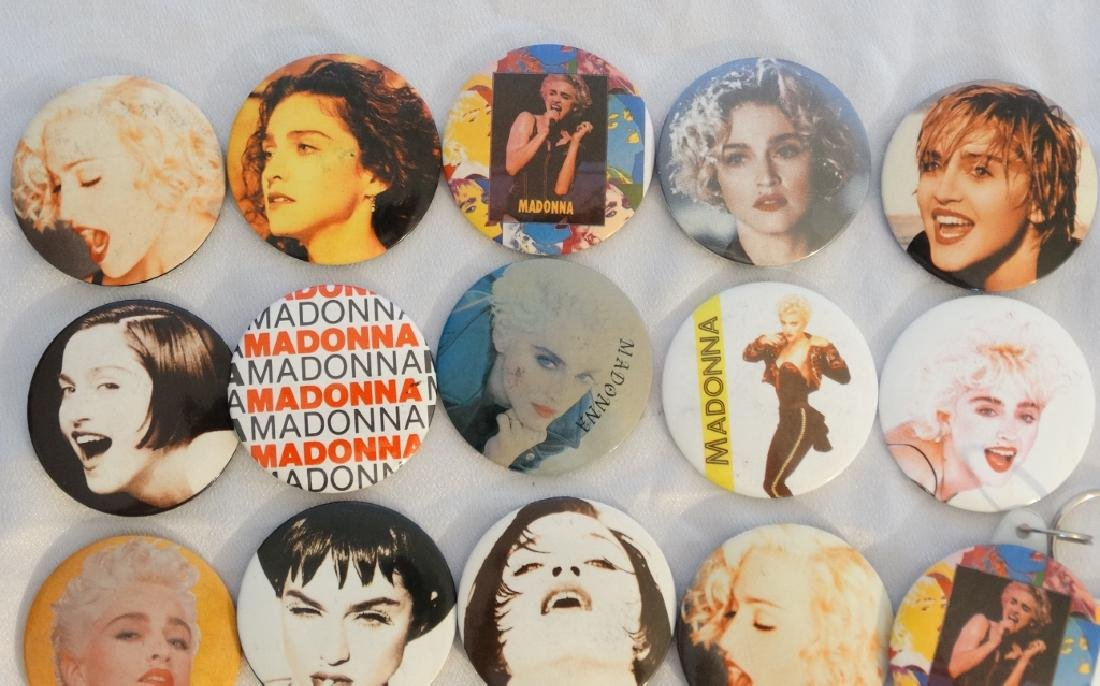 Madonna 26 Pins & Buttons From Tokyo Show W/COA - 2