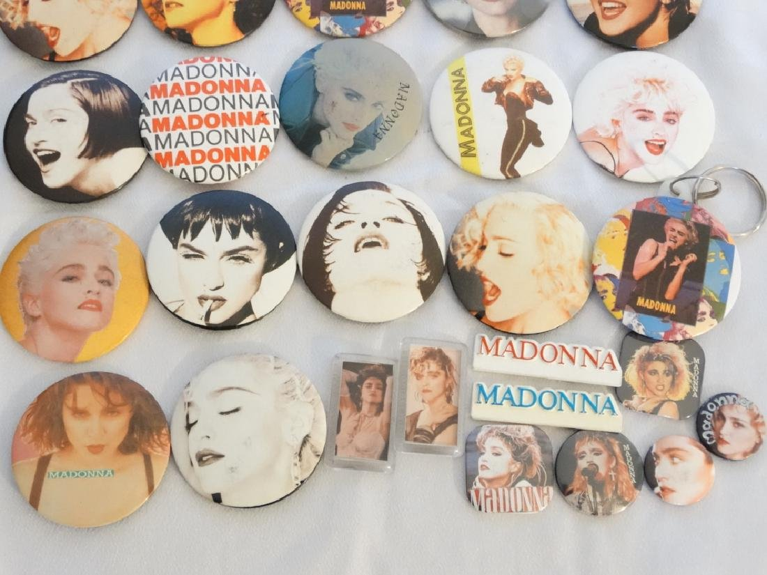 Madonna 26 Pins & Buttons From Tokyo Show W/COA - 3