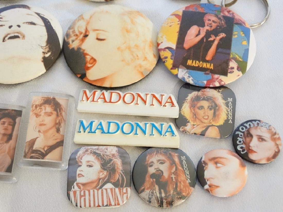 Madonna 26 Pins & Buttons From Tokyo Show W/COA - 4