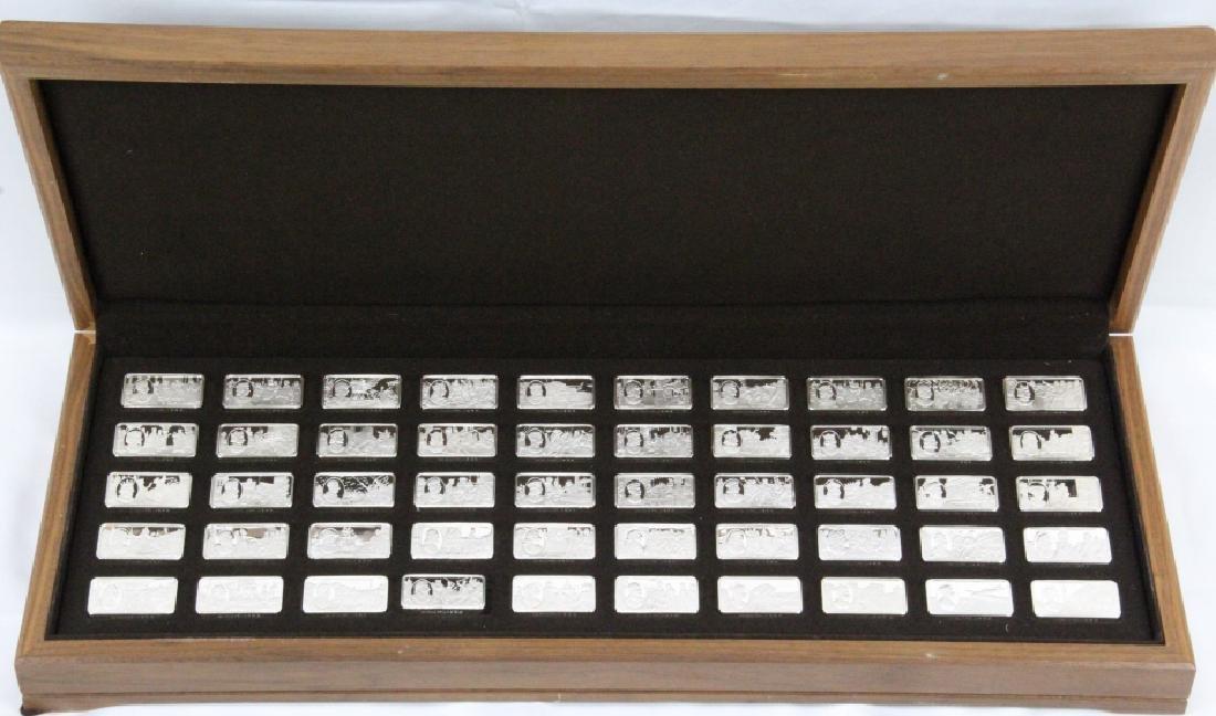 Franklin Mint (50) Ingot Set (APPROX. 3300 GRAMS)