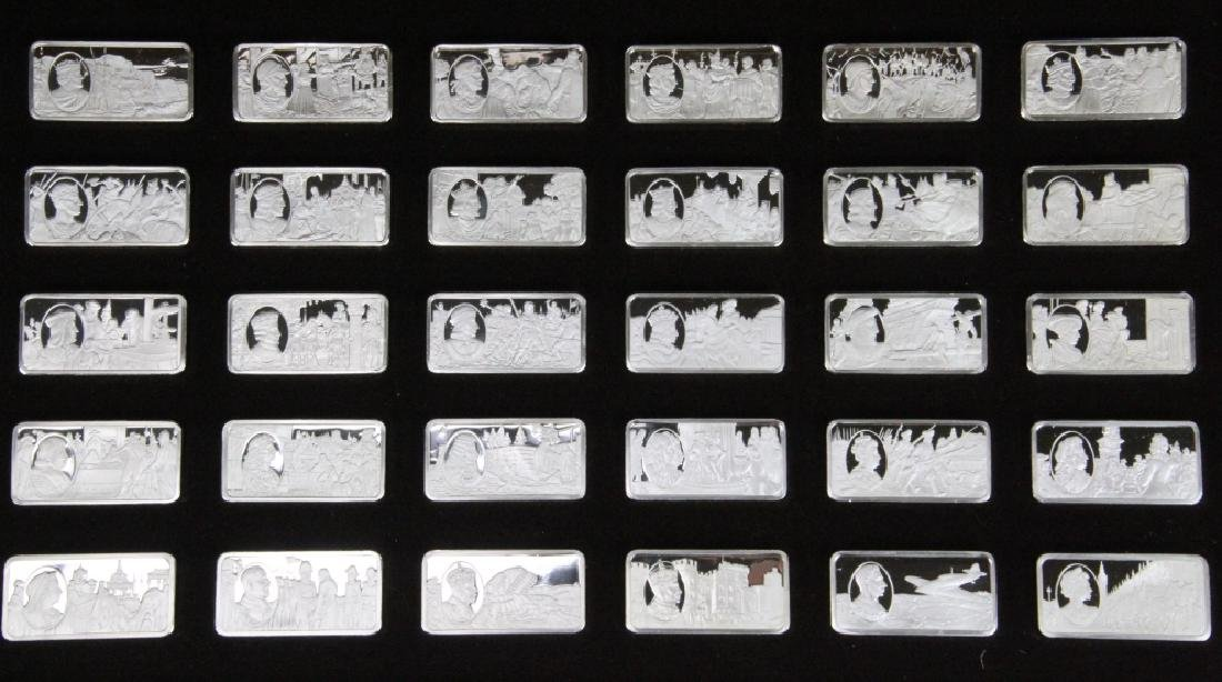 Franklin Mint (50) Ingot Set (APPROX. 3300 GRAMS) - 3