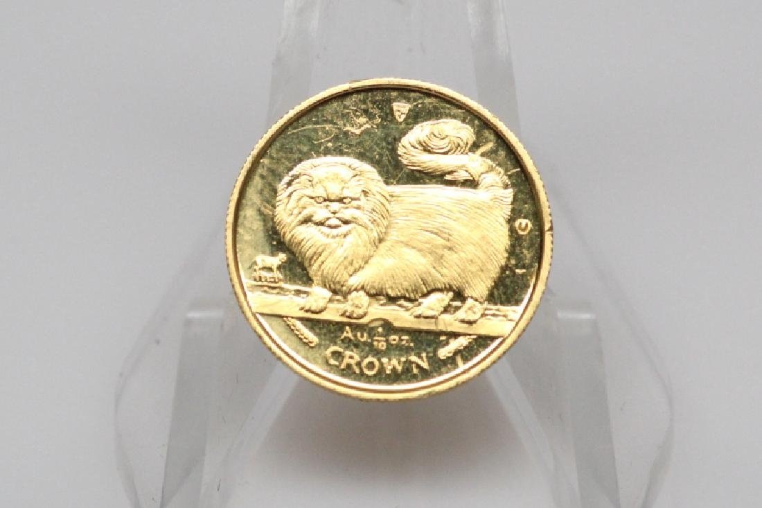 1997 Isle of Man 1/10 Ounce .9999 Fine Gold Coin