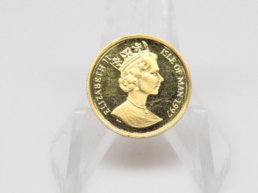 1997 Isle of Man 1/10 Ounce .9999 Fine Gold Coin - 2