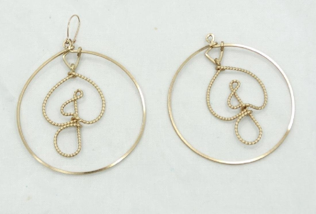 Jessi Colter Personal Gold Tone Hoop Earrings - 2