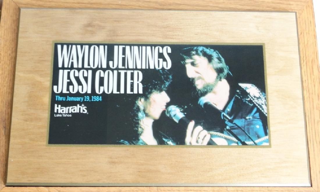 Waylon Jennings/Jessi Colter Wall Plaque W/COA - 2