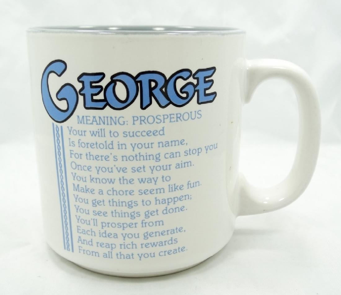 George Jones Personally Owned Coffee Mugs W/COA - 2