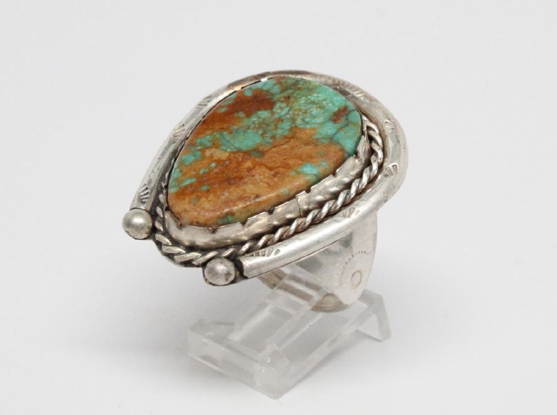 Ajax Turquoise & Sterling Silver Horseshoe Ring