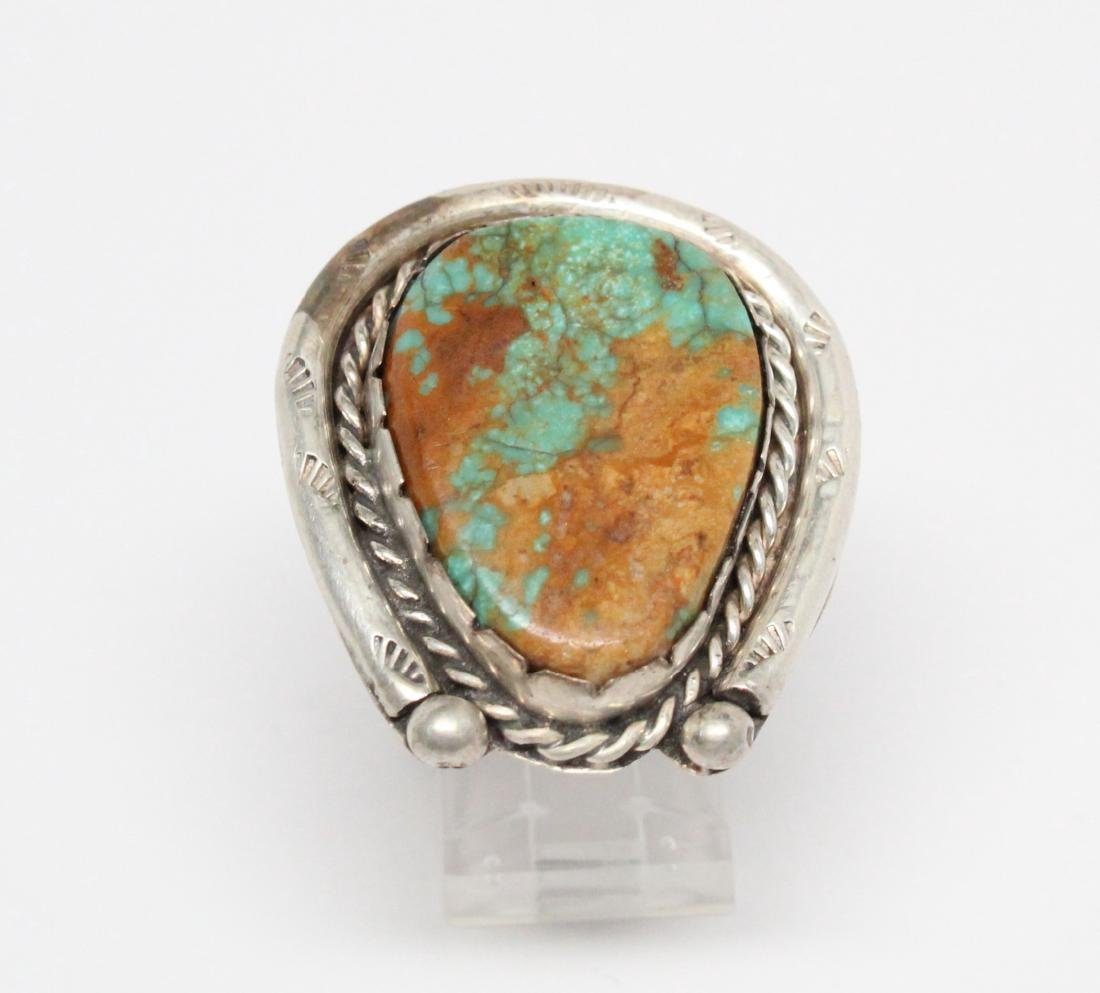 Ajax Turquoise & Sterling Silver Horseshoe Ring - 2