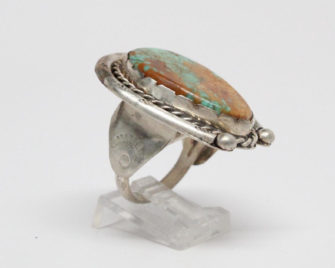 Ajax Turquoise & Sterling Silver Horseshoe Ring - 3