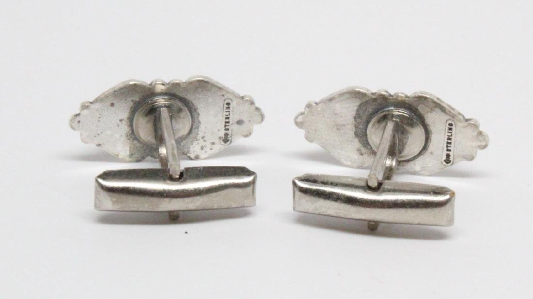 Native American Sterling & Turquoise Cufflinks - 3