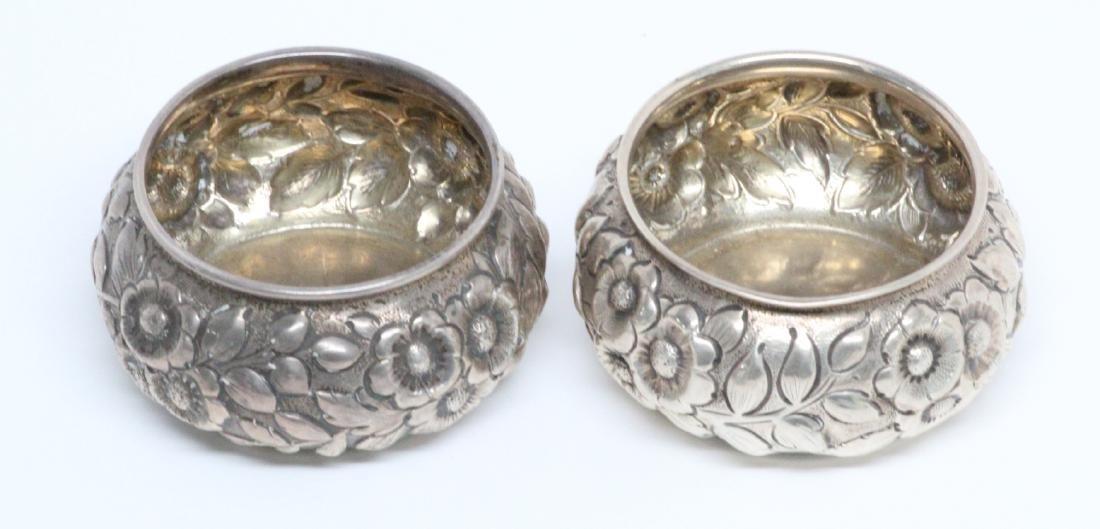 (2) Shiebler & Co. Sterling Silver Sugar Cellars - 3