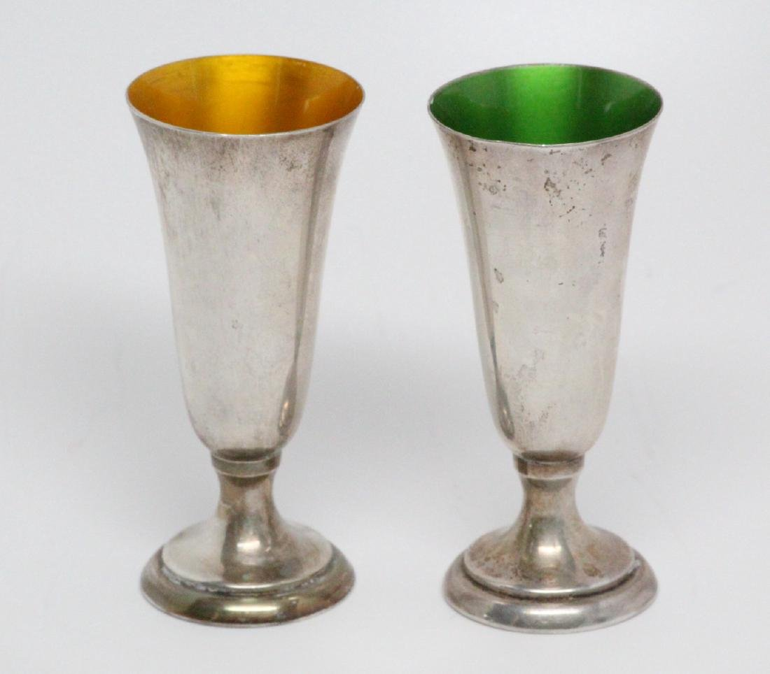 Reed & Barton Sterling Silver Cordials W/Enamel