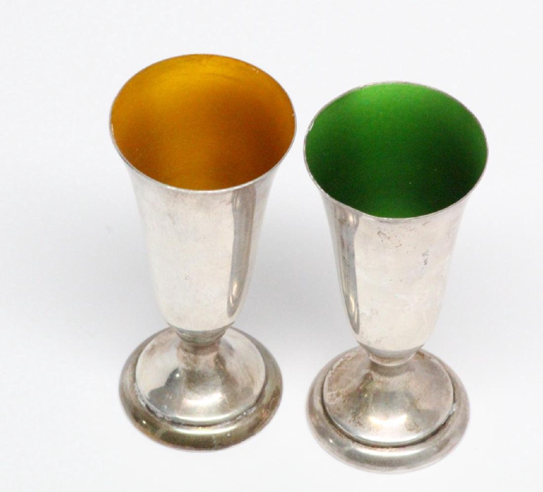 Reed & Barton Sterling Silver Cordials W/Enamel - 2
