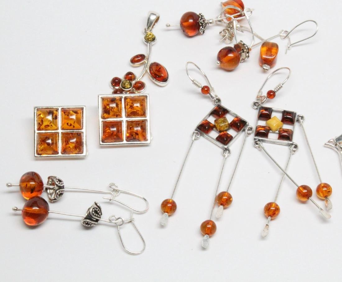 Lot of Baltic Amber & Sterling Silver Jewelry - 2