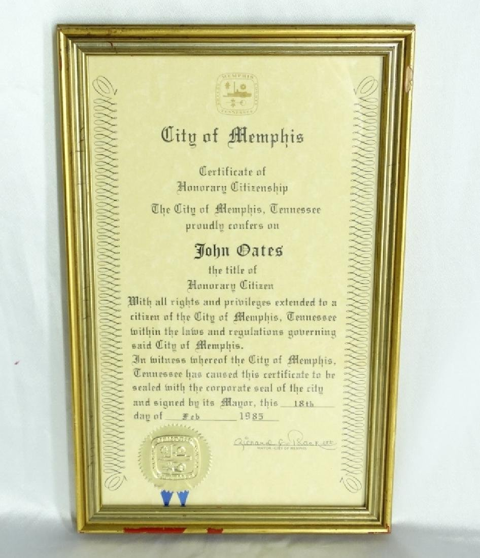 John Oates (Hall & Oates) Personally Owned Plaque