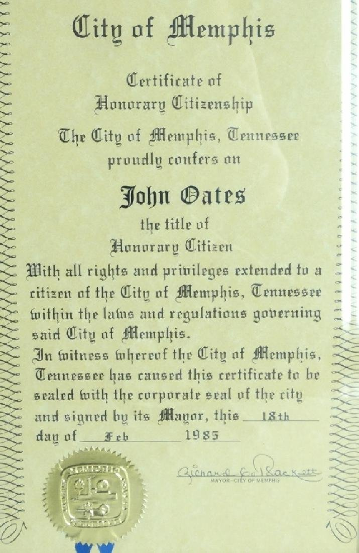 John Oates (Hall & Oates) Personally Owned Plaque - 2
