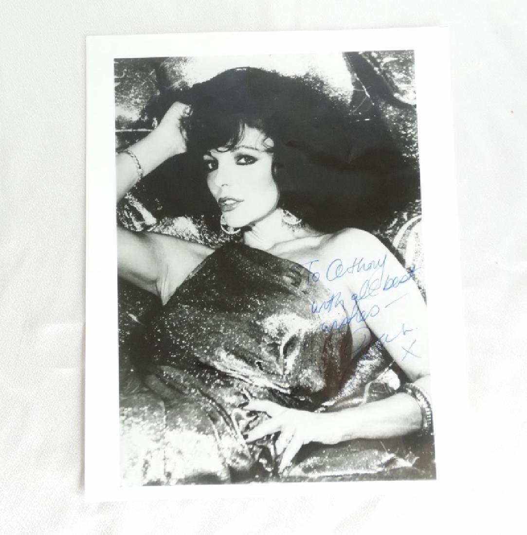 "Joan Collins Autographed 8"" x 10"" B&W Photograph"