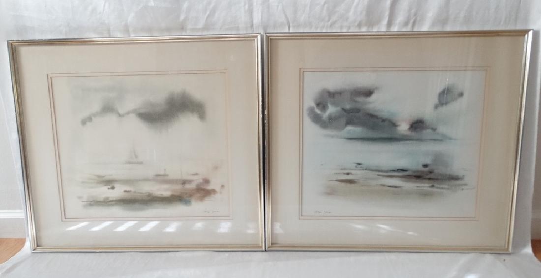 (2) Meyer Garlen Original Watercolor Paintings