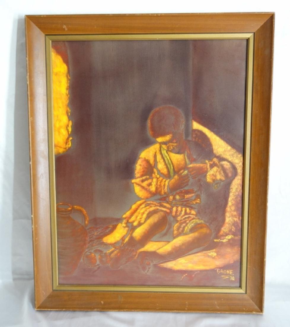 "Tyrone Johnson ""The Beggar Boy"" Orig. Painting"