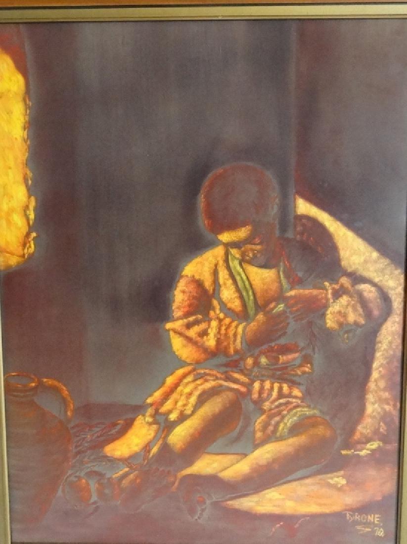 "Tyrone Johnson ""The Beggar Boy"" Orig. Painting - 2"