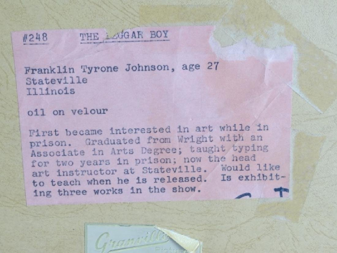 "Tyrone Johnson ""The Beggar Boy"" Orig. Painting - 5"