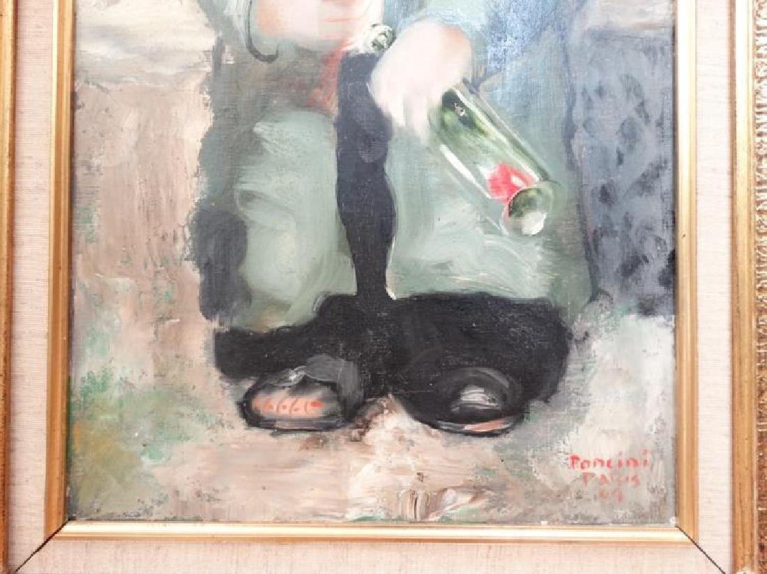 "Santini Poncini ""Douce Ivresse"" Original Painting - 3"