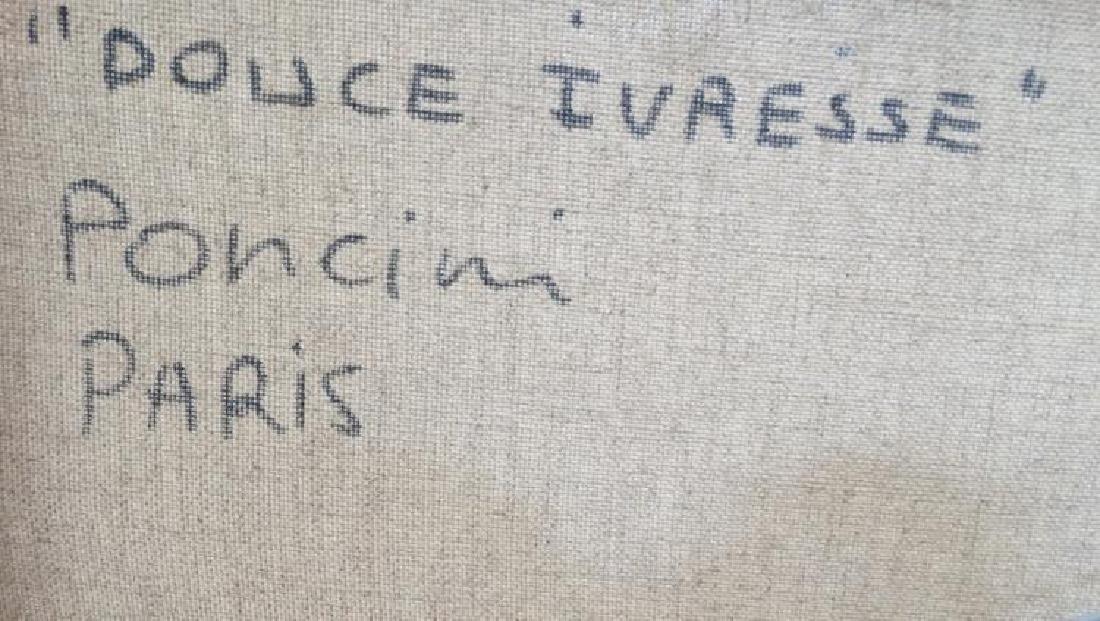 "Santini Poncini ""Douce Ivresse"" Original Painting - 6"