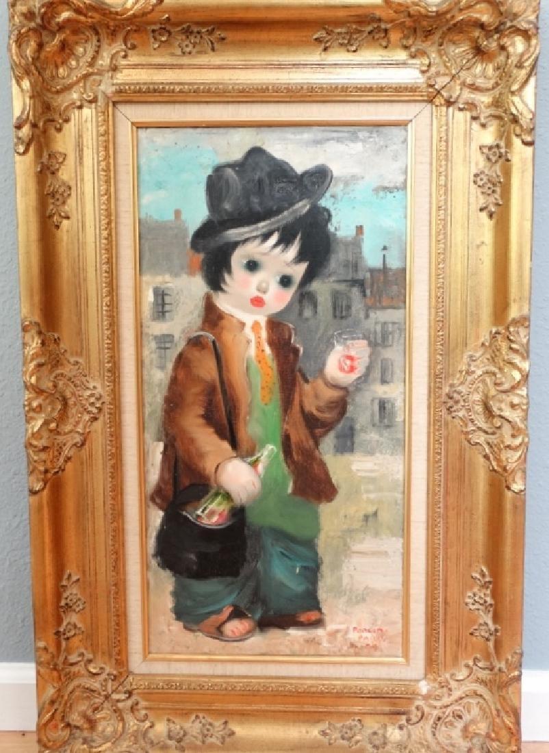 Santini Poncini Original Oil on Canvas Painting