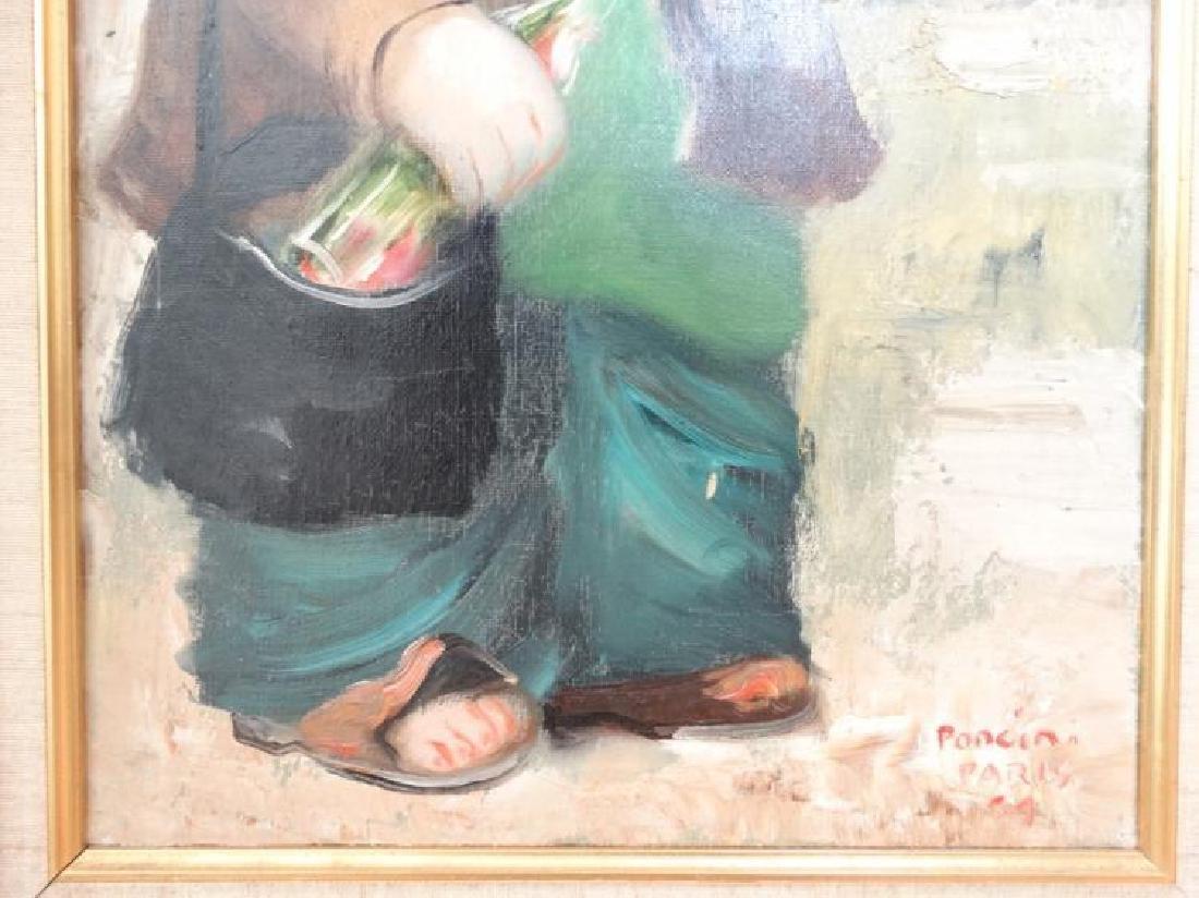 Santini Poncini Original Oil on Canvas Painting - 3
