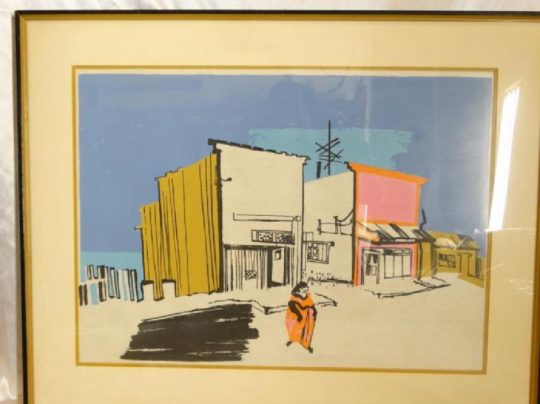 """Signed Lithograph of """"A Pueblito"""" Merlin Dow"""