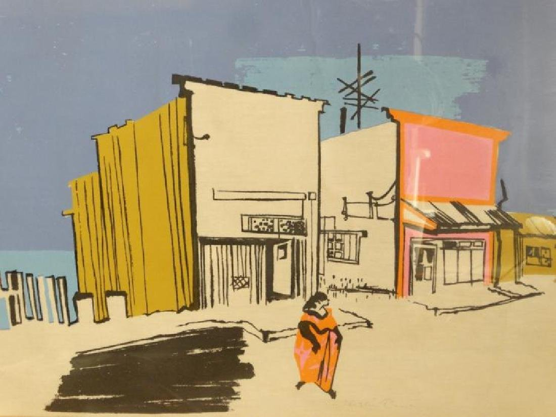"""Signed Lithograph of """"A Pueblito"""" Merlin Dow - 2"""