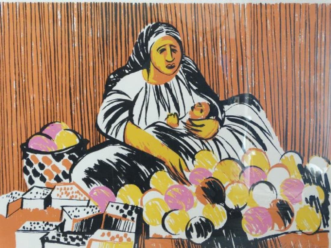 """Signed Litho Titled """"Calle Dolores"""" Merlin Dow - 2"""