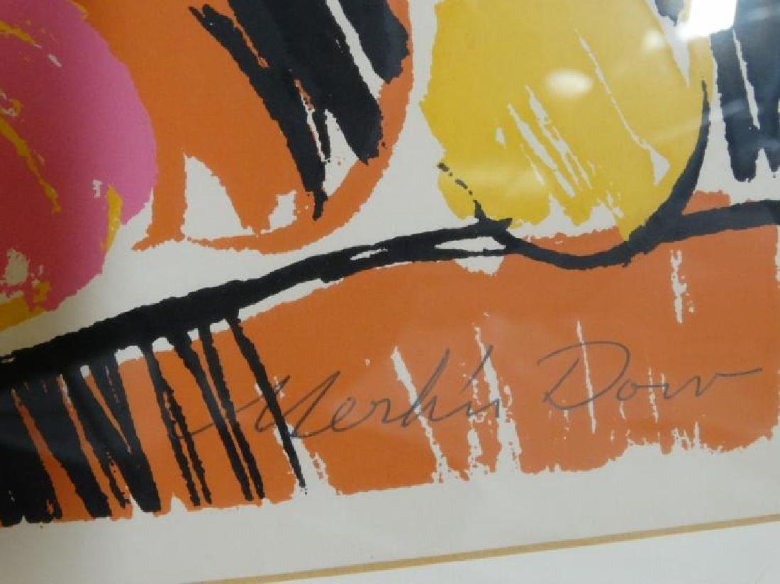 """Signed Litho Titled """"Calle Dolores"""" Merlin Dow - 3"""